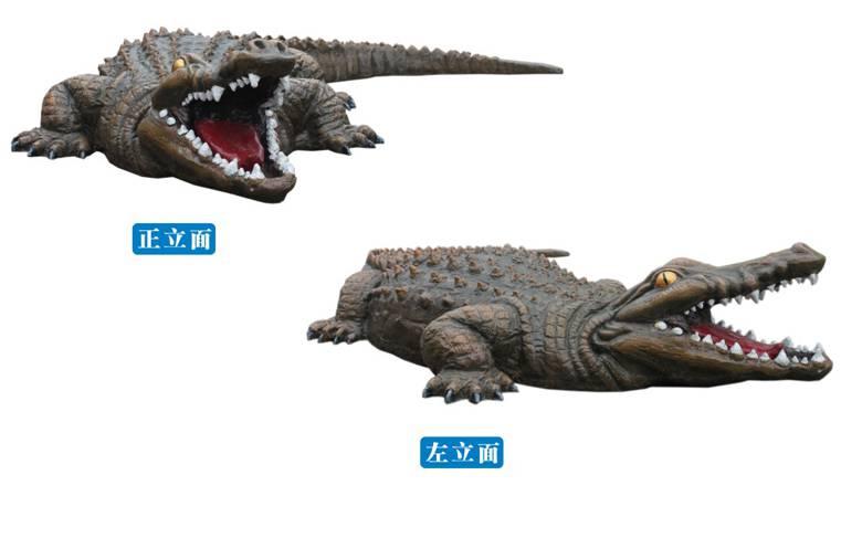 动物雕塑小品鳄鱼-意库校园文化商城