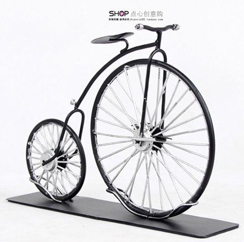 复古自行车模型摆件