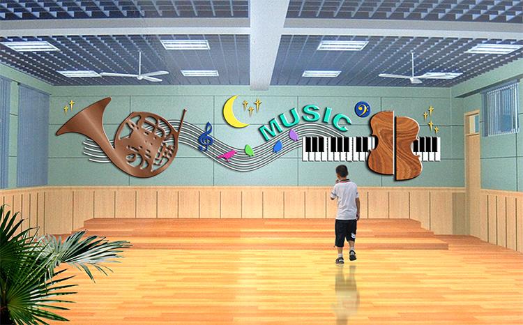 音樂教室墻面裝飾-校園文化建設專業平臺